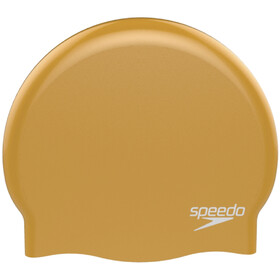 speedo Plain Moulded Silicone Cap Unisex, yellow